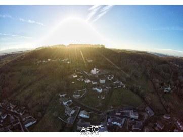 Prise de vue aérienne par DRONE du village d'Arbus (64)
