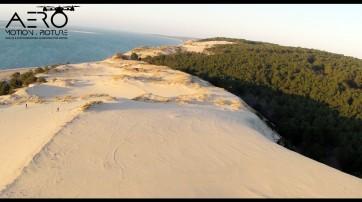 Prise de vue par drone au Sud de la Dune du Pilat