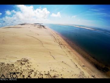 Prise de vue par drone Nord de la Dune du Pilat