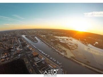 Prise de vue aérienne par drone du port de La-Teste-de-Buch