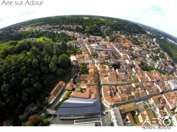 Prise de vue aérienne par DRONE dans les Landes sur la commune de l'Aire sur Adour
