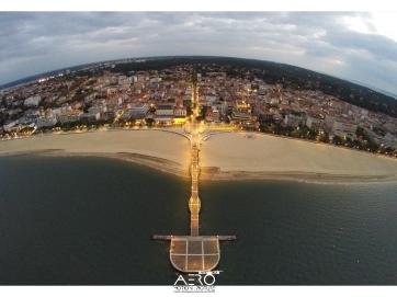 Prise de vue aérienne par DRONE de la Jetée Thiers de la ville d'Arcachon