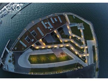 Prise de vue aérienne par drone du port d'Arcachon